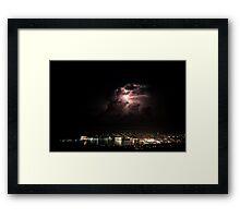 Spectacular Lightning Storm #2 - Port Lincoln, South Australia Framed Print