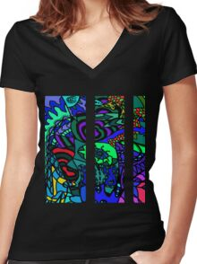 CRUX alternate colour - psychedelic artwork Women's Fitted V-Neck T-Shirt