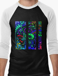CRUX alternate colour - psychedelic artwork Men's Baseball ¾ T-Shirt