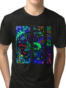 CRUX alternate colour - psychedelic artwork Tri-blend T-Shirt