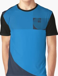 Golden Ratio Spiral - Blue Sections Graphic T-Shirt