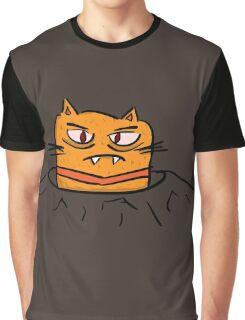 Grumpy Tunnel Cat Graphic T-Shirt