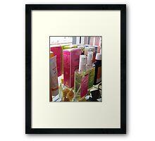 A Colourful Shelf. Framed Print