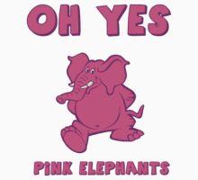 Pink Elephants Design - Daladubz by Jack Wingo