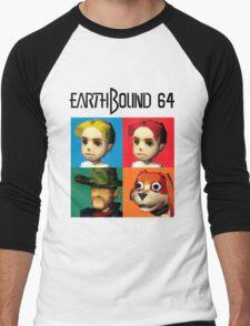 MOTHER 3 / EarthBound 64 Tiles (EarthBound 64 Logo) Men's Baseball ¾ T-Shirt