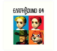 MOTHER 3 / EarthBound 64 Tiles (EarthBound 64 Logo) Art Print