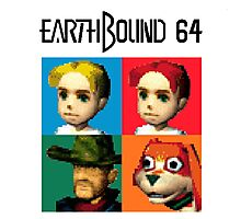 MOTHER 3 / EarthBound 64 Tiles (EarthBound 64 Logo) Photographic Print