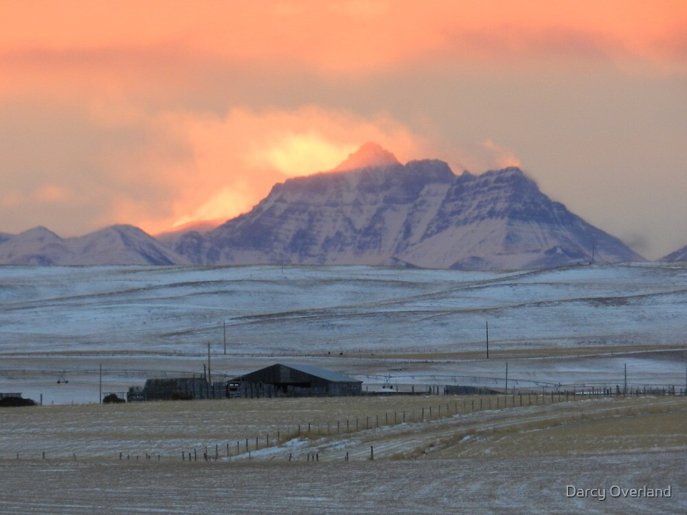 Mountainview Sunset by Darcy Overland