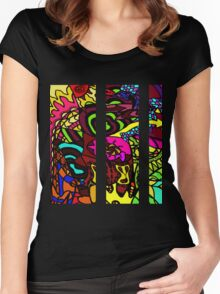 CRUX - Psychedelic artwork Women's Fitted Scoop T-Shirt