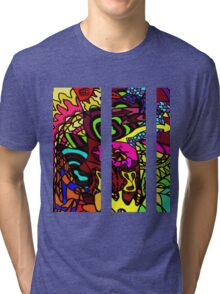 CRUX - Psychedelic artwork Tri-blend T-Shirt