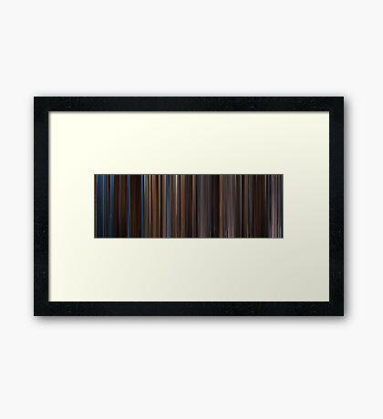 Moviebarcode: Gladiator (2000) Framed Print