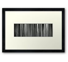 Moviebarcode: Girl on the Bridge / La fille sur le pont (1999) Framed Print