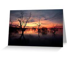 Lake Menindee Sunset  Greeting Card