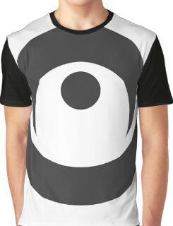 Spiky Circle Symbol Graphic T-Shirt