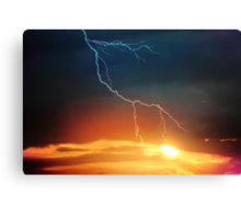 cracking dawn Canvas Print