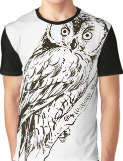 Owl hand drawn Graphic T-Shirt