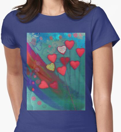 Hearts in the wind Womens Fitted T-Shirt