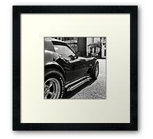 Black 'Vette Framed Print
