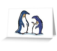 penguin lifestyles Greeting Card