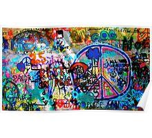 Lennon Wall - Prague Poster
