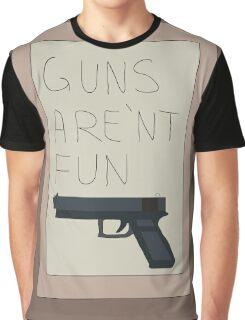 Rick and Morty: Guns Are'nt Fun Graphic T-Shirt