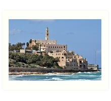 Israel Jaffa. The hill of Old Jaffa as seen from the north Art Print