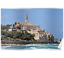 Israel Jaffa. The hill of Old Jaffa as seen from the north Poster