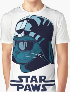 Darth Kitty - Imperial blue Graphic T-Shirt