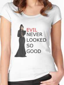 EVIL Never Looked So Good Women's Fitted Scoop T-Shirt