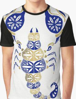 Scorpion – Navy & Gold Graphic T-Shirt