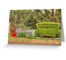 Station Topiary Greeting Card