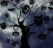 Creepy Halloween Tree Sticker