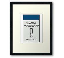 Shadow Moses Island - Property Card Framed Print