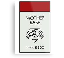 Mother Base - Property Card Metal Print