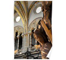 Angel, Santa Maria de Montserrat, Barcleona, Spain Poster