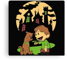 Calvin and Hobbes Scooby Canvas Print