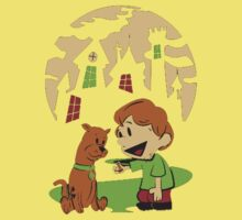 Calvin and Hobbes Scooby One Piece - Short Sleeve