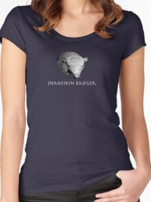 Snakeskin Badger Women's Fitted Scoop T-Shirt