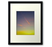 Abstract morning contrail Framed Print