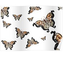 Mechanical Butterfly Poster