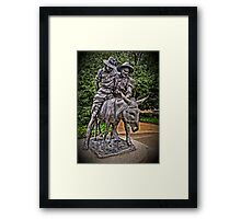 Simpson And His Donkey, 1915 Framed Print