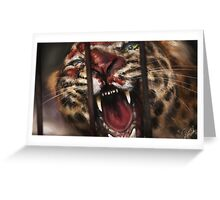 Rage in a Cage Greeting Card