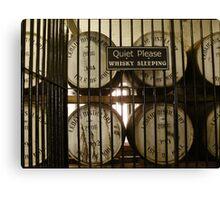 Whisky Sleeping Canvas Print