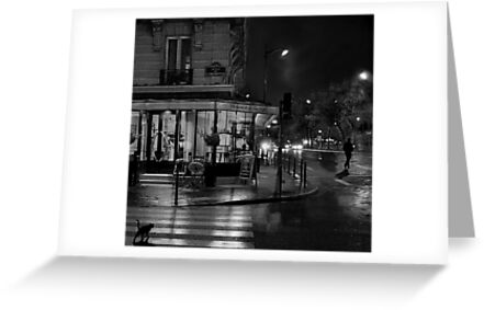 Paris Cafe at Night II by Louise Fahy