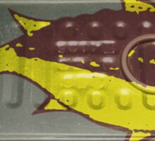Squashed Fish Sticker