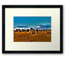 The Pinnacles WA - HDR Framed Print