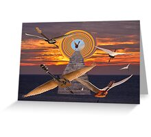 FLIGHT OF THE GUITARS Greeting Card