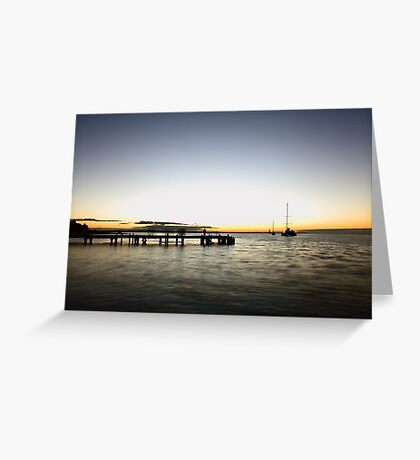 Monkey Mia Jetty Sunset Greeting Card