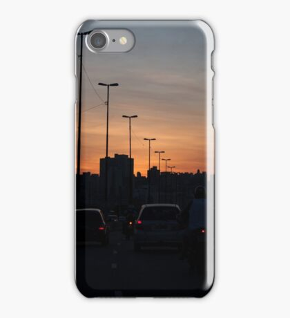 Late traffic jam iPhone Case/Skin