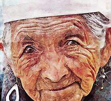 Portrait of Old Woman by Przemysław Bródka